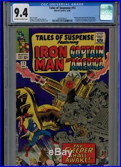 Tales Of Suspense #72 Cgc Graded 9.4 (marvel 1965) Red Skull, Sleeper Appearance