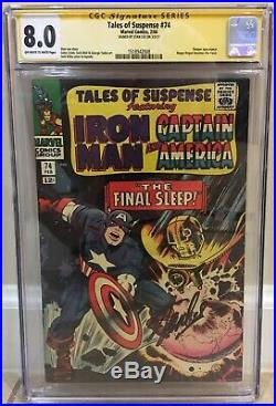Tales Of Suspense #74 Cgc 8.0 Happy Hogan Becomes Freak Signed By Stan Lee