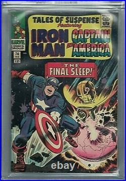 Tales Of Suspense #74 Cgc 9.4 Wp Iron Man Captain America Stan Lee Marvel 1966