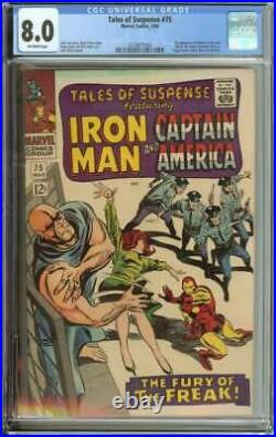 Tales Of Suspense #75 Cgc 8.0 Ow Pages // 1st Appearance Of Sharon Carter/batroc