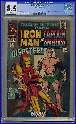 Tales Of Suspense #79 Cgc 8.5 Iron Man Captain America 1st Cosmic Cube White Pgs