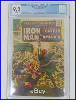 Tales Of Suspense #80 CGC 9.2 Iron Man & Capt America Classic Red Skull Cover