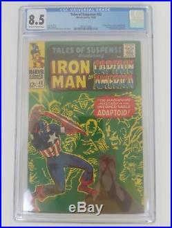Tales Of Suspense #82 CGC 8.5 Iron Man & Capt America 1st Appearance Adaptoid
