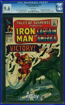 Tales Of Suspense #83 Cgc 9.6 White Pages 1st App Of Tumbler Cgc #0166052004