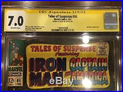 Tales Of Suspense #86 Cgc 7.0 Mandarin Appearance Signed By Stan Lee