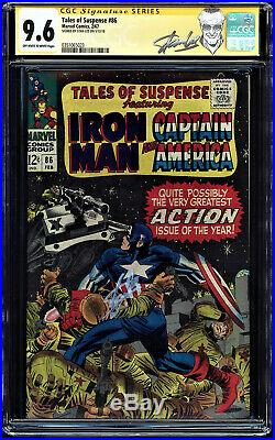 Tales Of Suspense #86 Cgc 9.6 Oww Ss Stan Lee Kirby Cap Cover #0351065023