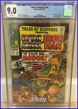Tales Of Suspense #94 Cgc 9.0 1st Appearance Of Modok Titanium Man Appearance