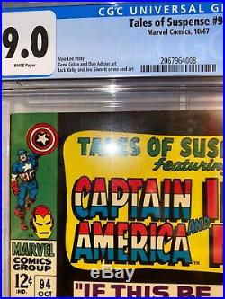 Tales Of Suspense 94 Cgc 9.0 White Pages M. O. D. O. K Marvel Comics 1967 New Case