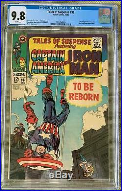 Tales Of Suspense #96 Cgc 9.8 White Pages! Highest Graded! Stan Lee / Kirby