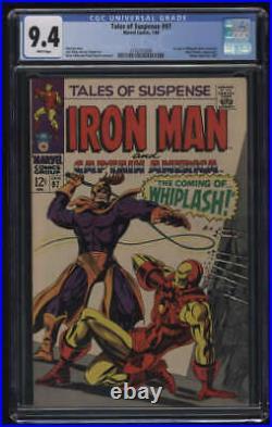 Tales Of Suspense #97 CGC 9.4 W Pgs Iron Man 1st Whiplash Marvel Comics Silver
