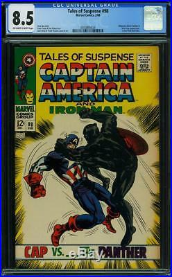 Tales Of Suspense 98 Cgc 8.5 Oww Pages Black Panther Vs Captain America