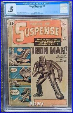 Tales Of Suspense TOS 39 CGC 0.5 Origin 1st Iron Man Marvel Comics (EYE APPEAL)