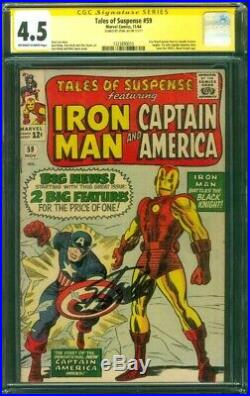 Tales Suspense 59 CGC 4.5 SS Stan Lee 1st Solo Captain America Iron Man Kirby 64