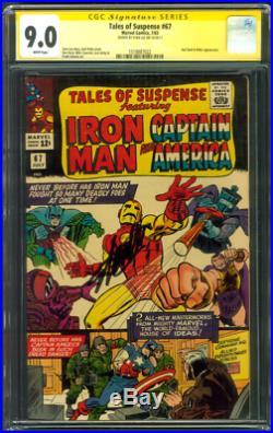 Tales Suspense 67 CGC 9.0 SS Stan Lee Captain America Hitler Iron Man Kirby 1965