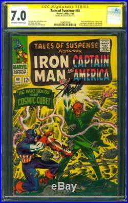 Tales Suspense 80 CGC 7.0 SS Stan Lee Captain America Red Skull Cosmic Cube 1966