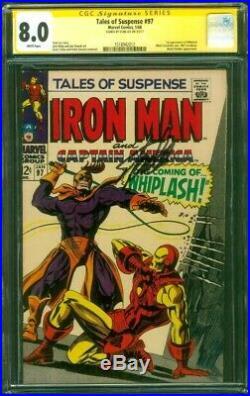Tales Suspense 97 CGC 8.0 SS Stan Lee 1st Whiplash v Iron Man Kirby Sinnott 1968