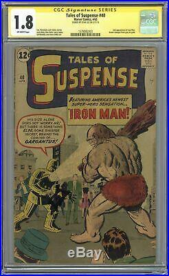 Tales of Suspense (1959) 40 CGC 1.8 SS Stan Lee 1579082003