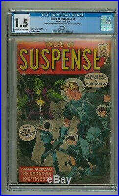Tales of Suspense #1 (CGC 1.5) C-O/W pages Ditko 1959 INCOMPLETE (c#24523)