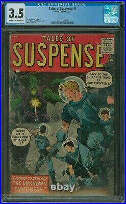 Tales of Suspense #1 CGC 3.5 1959 Atlas Comics 1st issue