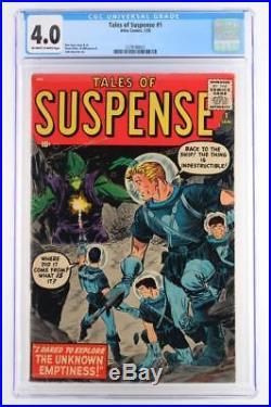 Tales of Suspense #1 CGC 4.0 VG Atlas 1959 Pre-Hero 1st Issue