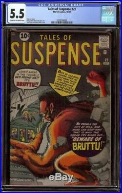 Tales of Suspense # 22 CGC 5.5 CRM/OW (Marvel 1961) Kirby & Ditko cover