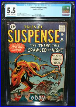 Tales of Suspense #26 The Thing That Crawled by Night! CGC Grade 5.5 1962