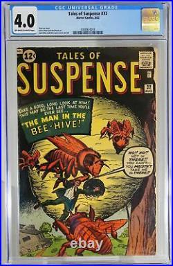 Tales of Suspense #32 CGC 4.0 Stan Lee Story Jack Kirby cover art