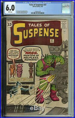 Tales of Suspense # 37 CGC 6.0 WP