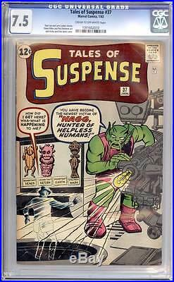 Tales of Suspense # 37 Hagg, Hunter of Helpless Humans! CGC 7.5 scarce book