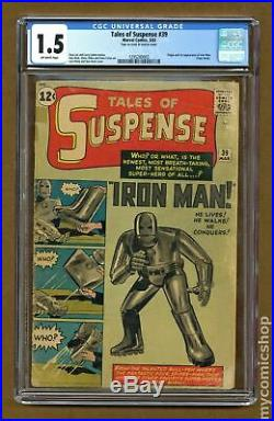 Tales of Suspense #39 1963 CGC 1.5 1295280003