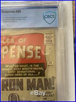 Tales of Suspense 39 1st Iron Man CBCS Graded Not Cgc Key Book