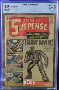 Tales of Suspense #39 CBCS 1.5 (Like CGC) Origin & 1st Appearance of Iron Man