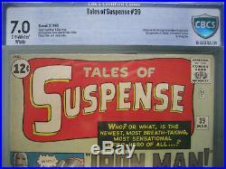 Tales of Suspense #39 CBCS 7.0 not CGC 1st Iron Man Marvel Comics 1963