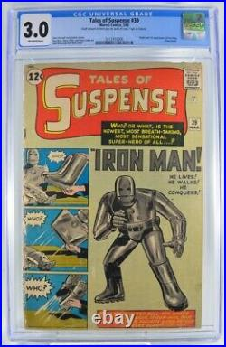 Tales of Suspense #39 CGC 3.0 Origin and 1st Appearance of Iron Man 1963