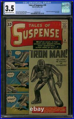 Tales of Suspense #39 CGC 3.5 (C-OW) Origin & 1st appearance of Iron Man