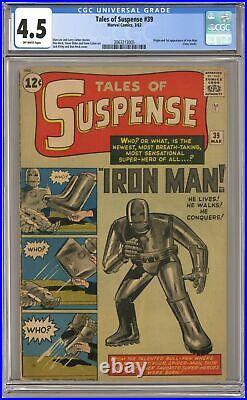 Tales of Suspense #39 CGC 4.5 1963 2063213005 1st app. Iron Man
