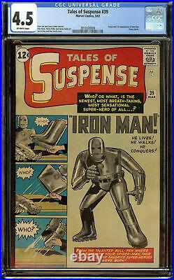 Tales of Suspense #39 CGC 4.5 OW 1st Appearance of Iron Man (Tony Stark)