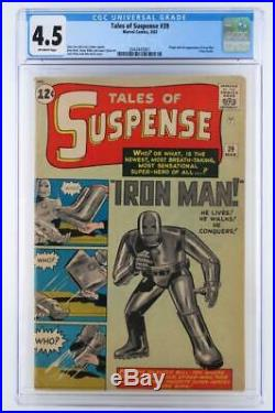 Tales of Suspense #39 CGC 4.5 VG+ Marvel 1963 ORIGIN & 1st App Iron Man