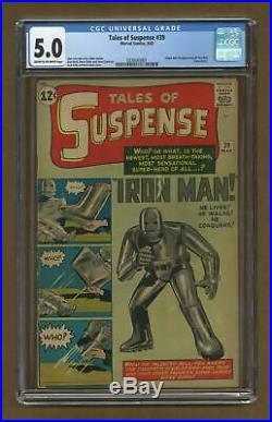 Tales of Suspense #39 CGC 5.0 1963 0339343001 1st app. Iron Man
