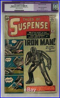 Tales of Suspense #39 CGC 5.0 Origin and 1st app. Of Iron Man! KEY ISSUE! L@@K