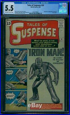 Tales of Suspense 39 CGC 5.5 1st Iron Man owithw pages