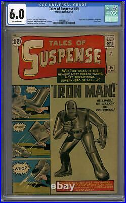 Tales of Suspense #39 CGC 6.0 (OW) Origin & 1st Appearance of Iron Man