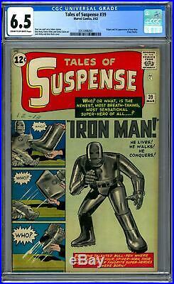 Tales of Suspense #39 CGC 6.5 (C-OW) Origin & 1st Appearance of Iron Man