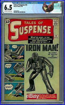 Tales of Suspense #39 CGC 6.5 (OW-W) Origin & 1st Appearance of Iron Man