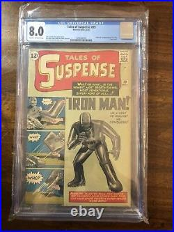 Tales of Suspense #39 CGC 8.0 Unrestored Marvel 1st Iron Man CR/OW Pages