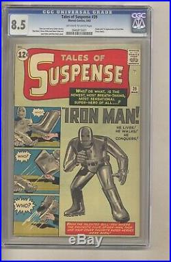 Tales of Suspense 39 (CGC 8.5) OWithW p 1st app. Iron Man Kirby Ditko (c#27962)