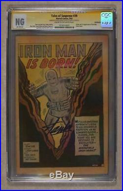 Tales of Suspense #39 CGC NG Coverless SS Stan Lee 1316510001 1st app. Iron Man