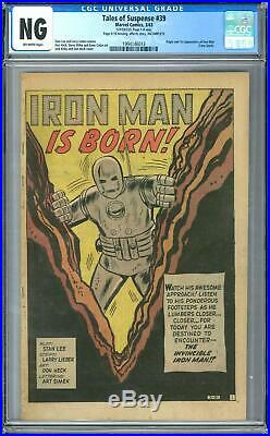 Tales of Suspense #39 CGC NG (OW) Origin and 1st Appearance of Iron Man