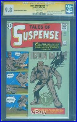 Tales of Suspense 39 CGC SS 9.8 Stan Lee Signed 1st Iron Man German Gold Ed 99