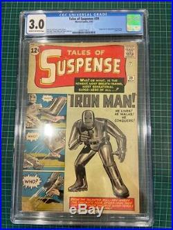 Tales of Suspense #39 (Mar 1963) CGC 3.0 GD/VG, Marvel 1st app Iron Man, slabbed